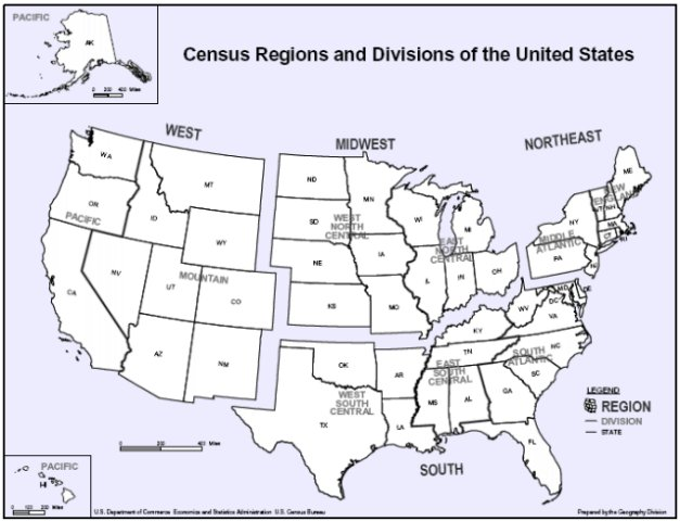Click here to view U.S. Census Regions